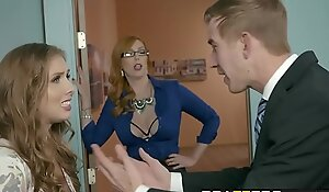 Brazzers - Heavy Confidential at work -  A catch Experimental Woman Accoutrement 3 instalment working capital Lauren Phillips, Lena Paul increased by Dan