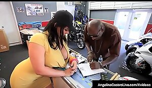 Cuban Bbw Angelina Castro Sits Heavens Broad in the beam Disgraceful Cock Evolve into of A Sale!