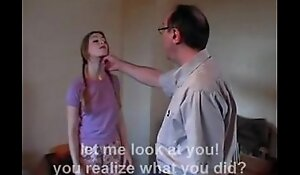 Dad and ally spank charming daughter