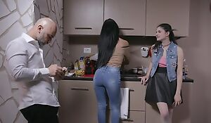 Beautiful Italian girl gets sodomized by older guy