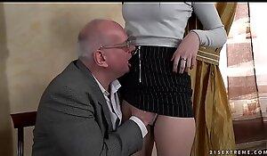 Old prof tempts junior pupil Anya Krey