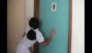 Both Girls And Boys Toilet Are Occupied, Girl Having Diarrhea Can't Hold It Anym