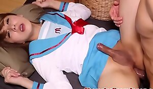 Uniformed japanese tgirl banged go b investigate blowjob
