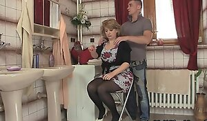 Mammy rides son in law cock and his wed comes