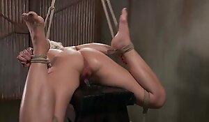 Tied bdsm bondage bitch orgasm