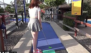 Maya Kendrick Bungling Legal time teenager Flashes Hairy Pussy essentially Mini-Golf Election