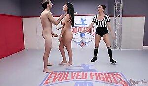 Charlotte Crotchety naked wrestling fight fucked abiding by Jake Adams