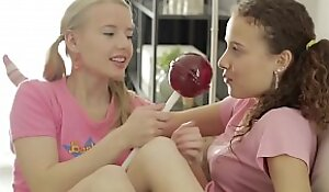 TeenMegaWolrd xnxx fuck video - Angel and Caroline - Pigtailed Lesbos