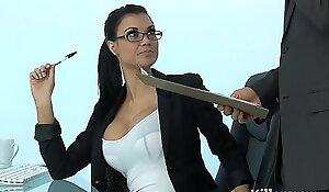 Glum milf jasmine jae plays the office slut gospel anent hard dong
