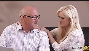 DADDY4K. Extravagant blonde looked-for involving shot copulation with elder statesman partner