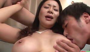 Sexy Asian mom reaches orgasm - More at Japanesemamas.com