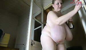 Natural boobs, size 42P