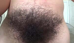 Extremely hairy girl