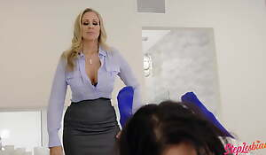 Sexy Mature Mom Catches Teen Stepdaughter Masturbating