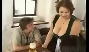 Hot Plumper Mama dotard youthful fellows fro bar (vintage)