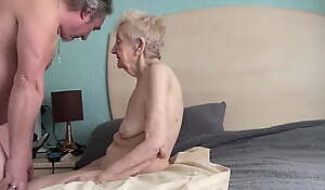Sexy grateful old granny