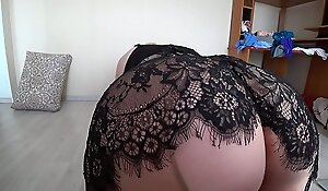 Girlfriend bonk big-busted blonde, grown up plumper doggy position shakes a fat booty all over pantyhose.