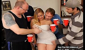 Curvy latin chick hollie acquires team-fucked and bukkakeed