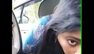 Malayali aunty pretentiously blowjob inside auto