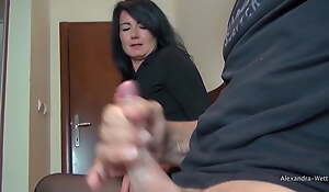 He pulled out his giant cock in the waiting room