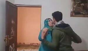Arab Egyptian Wife Quibbling Her Husband