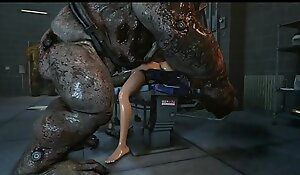 ashley and femshep getting screwed by monsters sexy