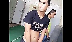 hawt Chinese house-servant nullify urine