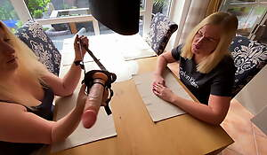 Milena-Sweet is nailed extremely wide of the strap-on dildo