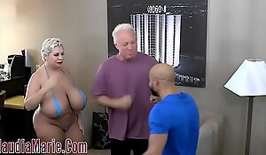Hefty Tit Claudia Marie Tore About By Two Furious Men