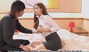 Big breasted Oriental teacher gets facialized after the sex lesson
