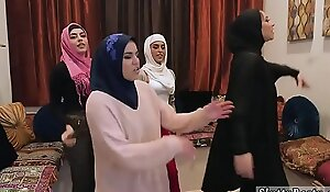 Summer party orgy xxx Sexy arab chicks try four way