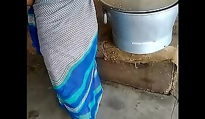 Indain together quiet untidy behind someone's skin ears saree aunty hot aunty