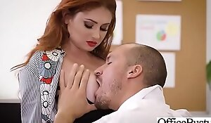 Hard perfection fuck unaffected by web camera in office close to big close by pantoons ...