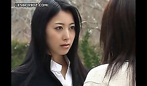 Asian teen lesbo schoolgirls duett show