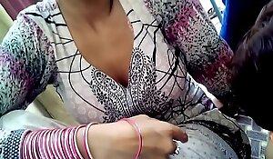 Desi babhi boobs handling front of camera