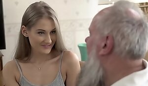 Teen belle vs age-old grandad - tiffany tatum with an increment of albert