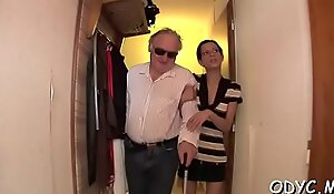 Old guy knows how to feel sorry a sweet juvenile pussy bosomy wet